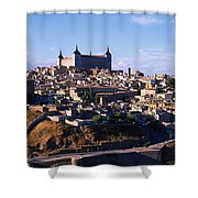Buildings In A City, Toledo, Toledo Shower Curtain