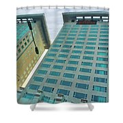Buildings In China Shower Curtain