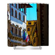 Buildings In Florence Italy Shower Curtain
