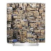 Buildings In The City Of Amman Jordan Shower Curtain