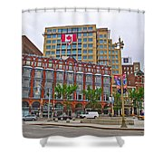 Buildings Near War Memoriall In Ottawa-on Shower Curtain