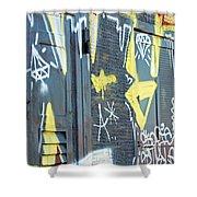 Bulgarian Graffiti Shower Curtain