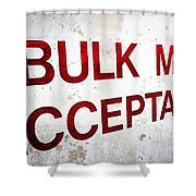 Bulk Mail Acceptance Shower Curtain