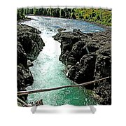 Bulkley River Falls In Moricetown-bc Shower Curtain