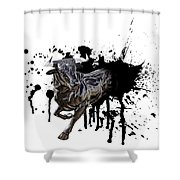 Bull Breakout Shower Curtain by Daniel Hagerman