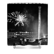 Bull Durham Fireworks Shower Curtain by Jh Photos