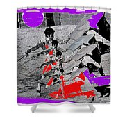 Bull Fight Matador Charging Bull Collage Us-mexico Mexico Border Town Nogales Sonora Mexico   1978-2 Shower Curtain