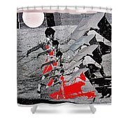 Bull Fight Matador Charging Bull Us Mexico Border Town Nogales Sonora Mexico Collage 1978-2012 Shower Curtain