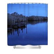Bull Frog Creek II Gibsonton Fl Usa Near Infrared Shower Curtain