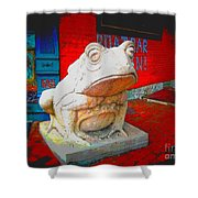 Bull Frog Painted Shower Curtain
