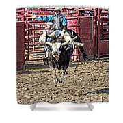 Bull In The Air Shower Curtain