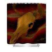 Bull Skull One Shower Curtain by John Mlaone