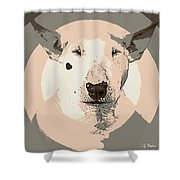 Bull Terrier Graphic 1 Shower Curtain