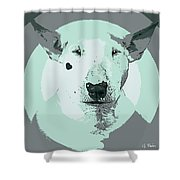 Bull Terrier Graphic 3 Shower Curtain