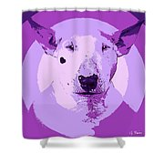 Bull Terrier Graphic 5 Shower Curtain