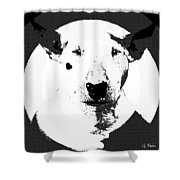 Bull Terrier Graphic 6 Shower Curtain