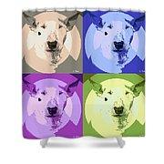 Bull Terrier Pop Art Shower Curtain