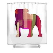 Bulldog Shower Curtain by Naxart Studio
