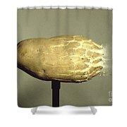 Bullet Piercing A Potato Shower Curtain