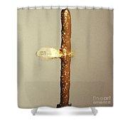 Bullet Piercing Pretzel Stick Shower Curtain by Gary S. Settles