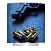 Bullets And Handgun Shower Curtain
