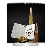 Bullets For You Shower Curtain