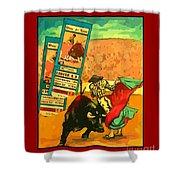 Bullfight Poster Shower Curtain