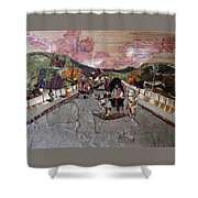 Bullock Cart On Bridge Shower Curtain