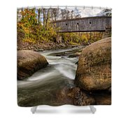Bulls Bridge Autumn Square Shower Curtain