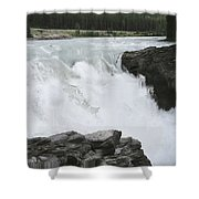 Bulls Horses Rock And Water Shower Curtain