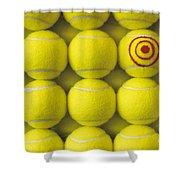 Bullseye Tennis Balls Shower Curtain