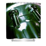 Bults Green Shower Curtain