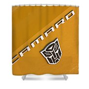 Bumble Bee Logo-7938 Shower Curtain