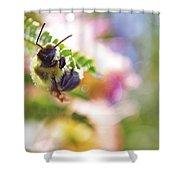 Bumblebee Disco Shower Curtain