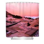 Bumpass Hell Sunset Shower Curtain