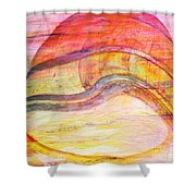 Bumped Wine Barrel Shower Curtain