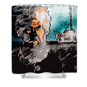 Bums Rush Shower Curtain