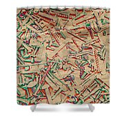Bunch Of Screws 5 - Digital Effect  Shower Curtain by Debbie Portwood