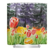 Bunch Of Tulips I Shower Curtain