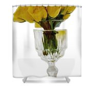 Bunch Of Yellow Roses Shower Curtain
