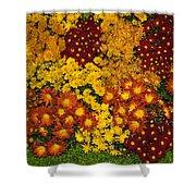 Bunches Of Yellow Copper Orange Red Maroon - Hot Autumn Abundance Shower Curtain