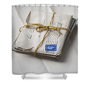 Bundle Of Vintage Letters Shower Curtain