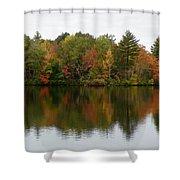 Bunganut Lake Foliage 4 Shower Curtain