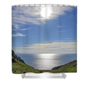 Bunglass Donegal Ireland - Seascape Shower Curtain
