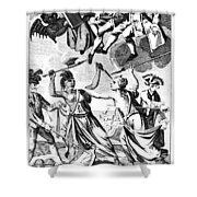 Bunker Hill: Cartoon, 1775 Shower Curtain