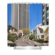Bunker Hill Steps Los Angeles Shower Curtain