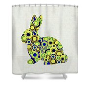 Bunny - Animal Art Shower Curtain by Anastasiya Malakhova