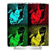 Bunny Pop Art Shower Curtain