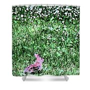 Bunny Rabbit Digital Paint Shower Curtain