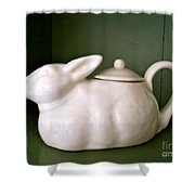 Bunny Teapot  Shower Curtain